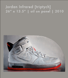 Jordan Infrared [triptych] | Oil on Panel